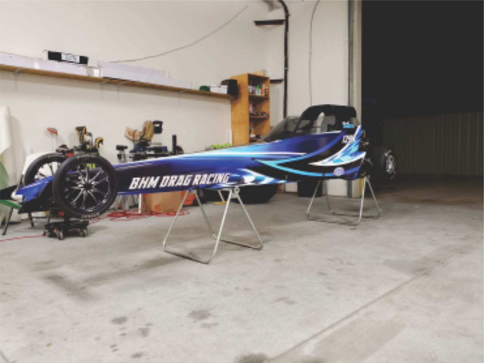 BHM drag car wrap