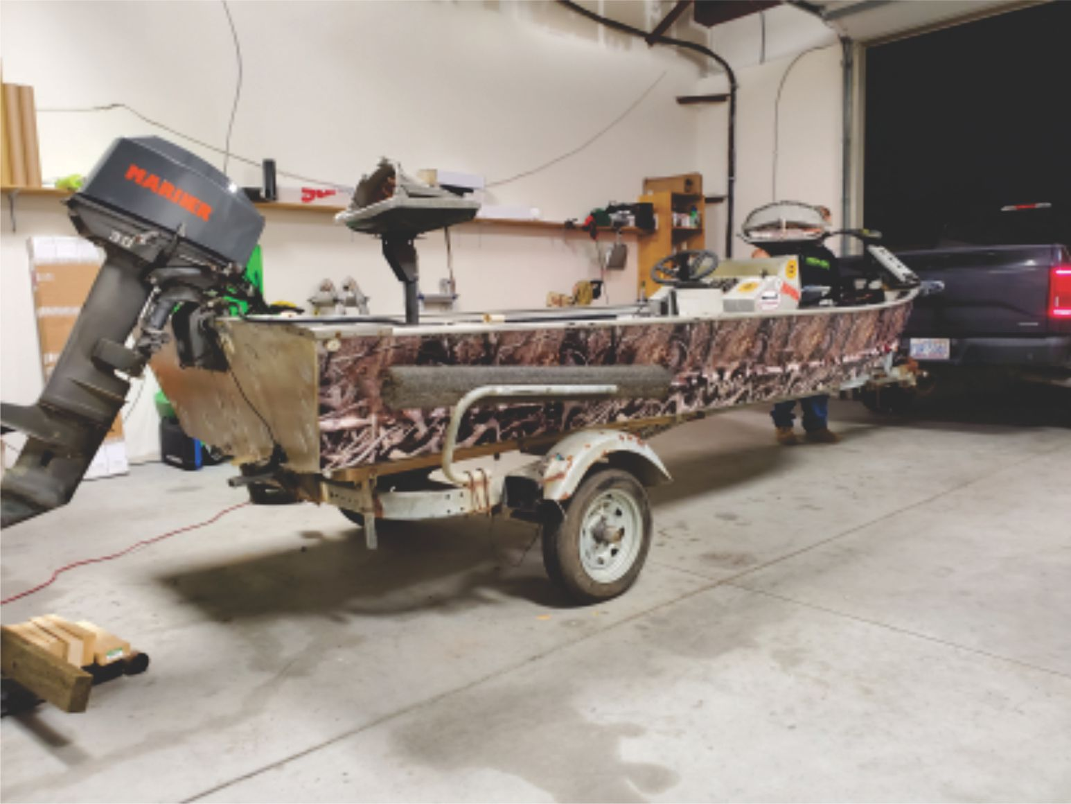 Duck hunting boat wrap