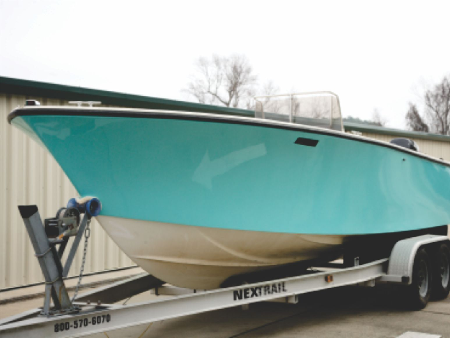 Fishing boat custom wrap